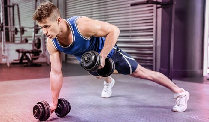 Dumbbell Plank Rows