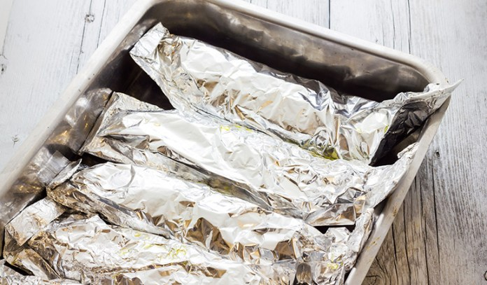 Aluminum wrapped foods can cause problems