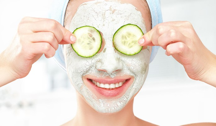 Cucumber face mask is a great moisturizer and perfect for dry skin