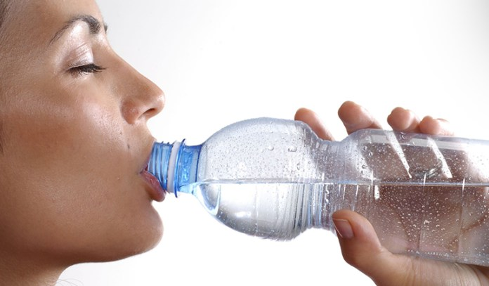 Fuel up on water before, during, and after working out.