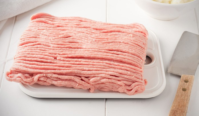 Ground turkey should always be cooked with extreme heat slowly