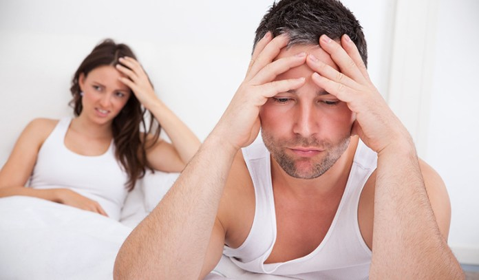 Performance anxiety can make it tough for a man to get a healthy erection.