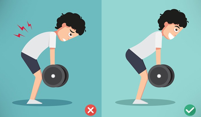 Improper form should be avoided when working out triceps