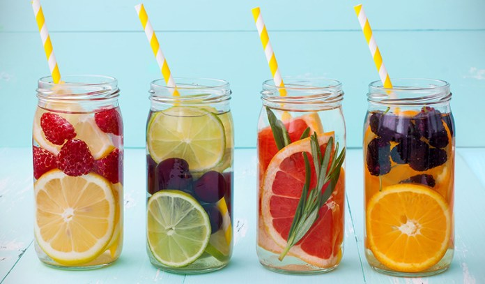 Make water interesting by infusing it with fruits and herbs.