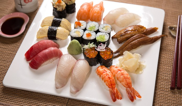 nutritional value of sushi from Japan