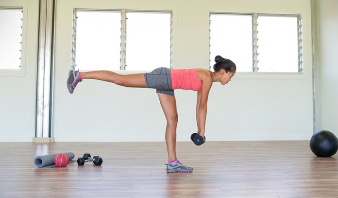 Single leg deadlifts strengthen the ankles and knees.