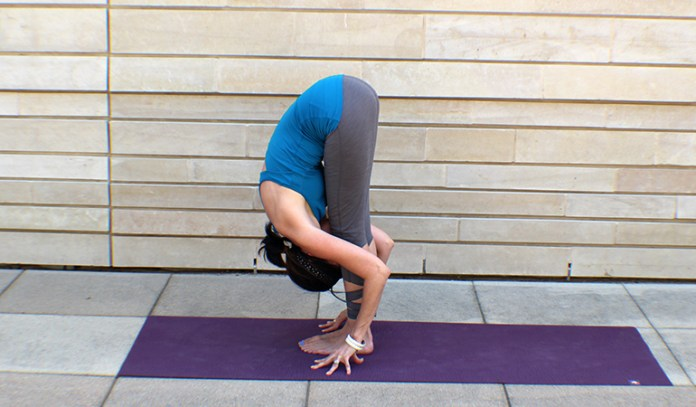 Uttanasana relieves both mental and physical exhaustion