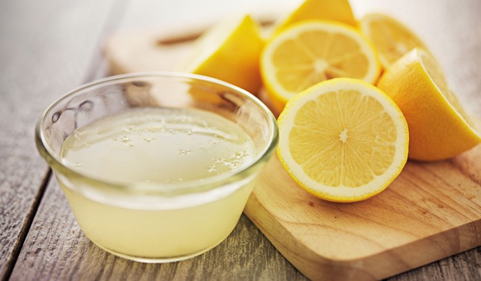 Lemon juice is a natural bleaching agent