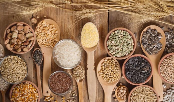 Whole grains contain essential fiber, B vitamins and iron.