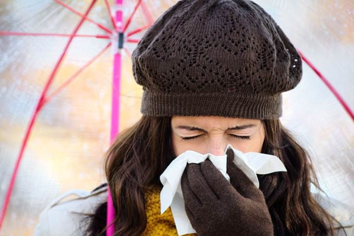 Continuous sneezing can be an indication of allergies
