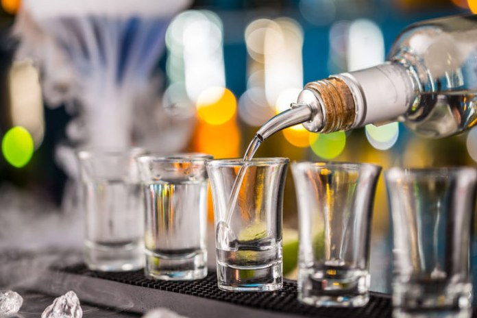 The alcohol kills odor-causing bacteria on the foot.