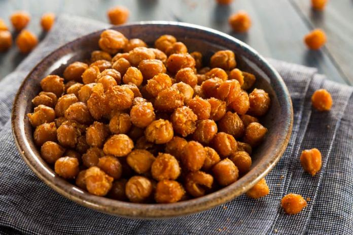 roasted chickpea to keep you full for longer.
