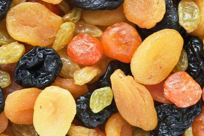 Dried fruits aren't great as they have excess added sugar