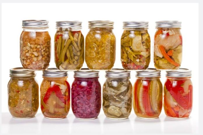 Pickles are high in tyramine due to fermentation.