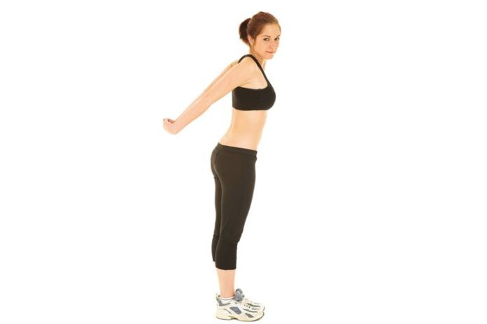 Behind the back neck stretch relieves neck pain