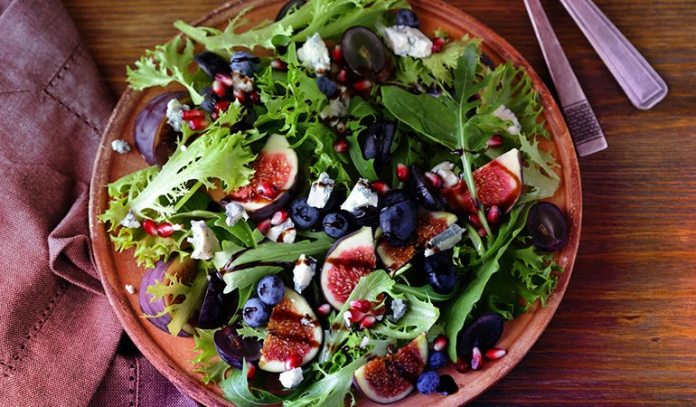 Salads can consist of fruits and veggies for a great unique combination