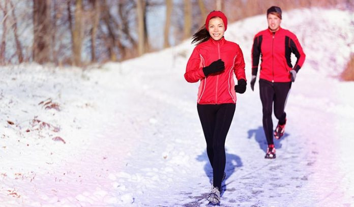 You burn more calories when you exercise during the winter months