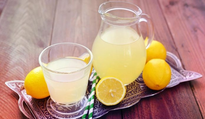 Have lemon juice with warm water