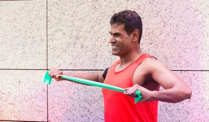 The pull-apart exercise using resistance band gives your shoulder great shape