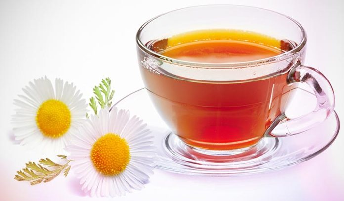 Chamomile tea soothes your body and helps you fall asleep