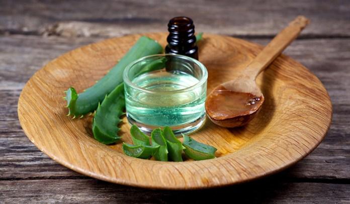 Aloe vera fights inflammation and moisturizes skin.