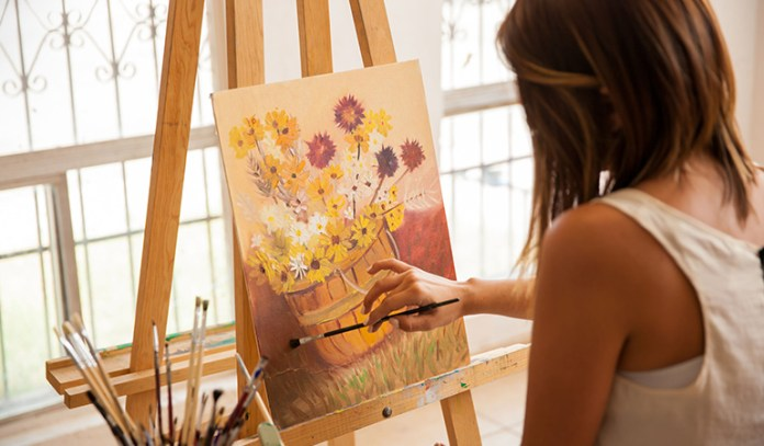 Use hobbies like painting to distract from cravings.