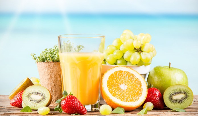 Fresh juices have fiber, nutrients and goodness and none of the added sugar.