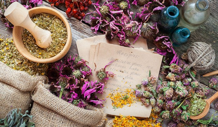 tincture made with a variety of herbs to treat insomnia
