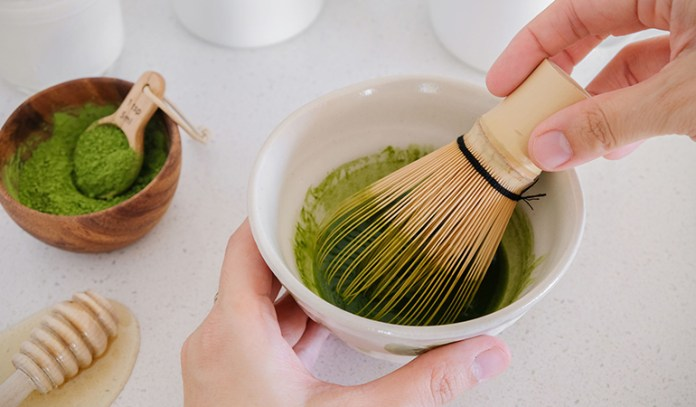 Play around with the ratio of matcha powder to water.