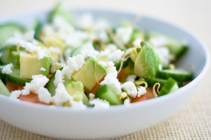 avocado and tomato salad for a healthy meal
