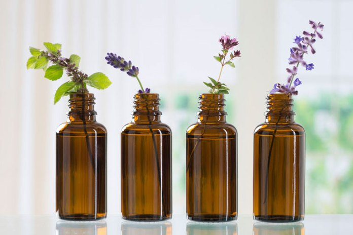 Use essential oils instead of skin care products