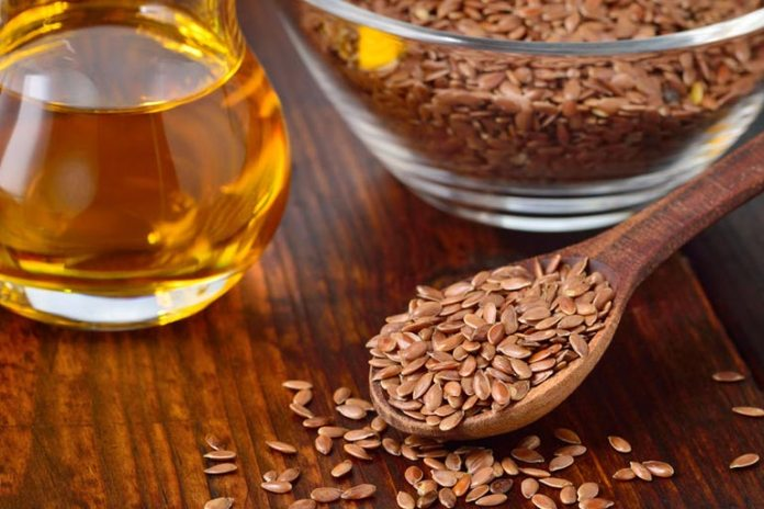 Flaxseed is rich in omega 3 fatty acids, which decreases inflammation.