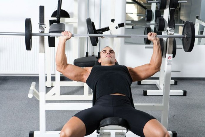 Works the upper chest