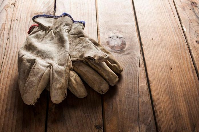 Sprinkle some baby powder into your garden gloves to prevent them from getting sticky