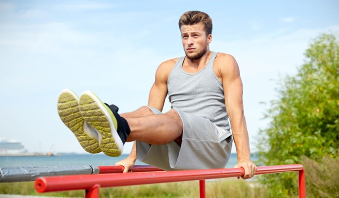 L-sits are aimed at strengthening your core.