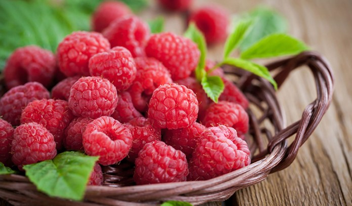 Raspberries have anti-cancer properties and fight free radicals
