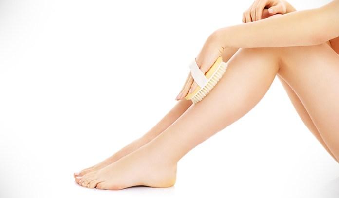 Skin brushing improves lymphatic flow.