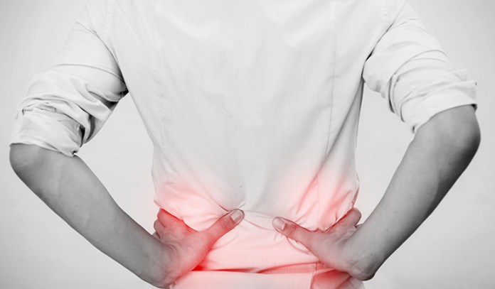 Injuries and fractures cause lower back pain.