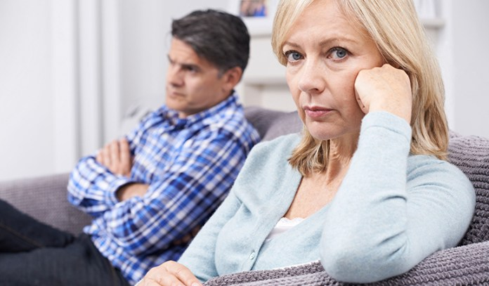 Age-related health complications such as menopause in women and decreased testosterone in men cause a loss of sex drive.