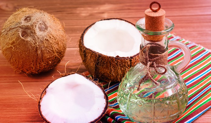(Massage the hair and hair scalp with coconut oil to get amazing results.