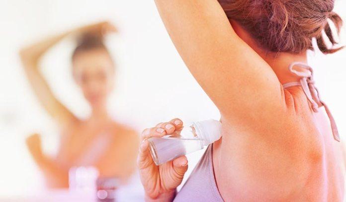 (Use aluminium-free natural deodorants.)