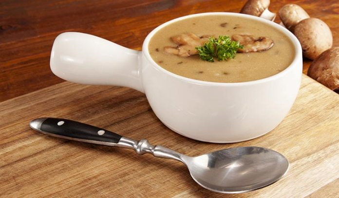 Opt for reduced-sodium soups when you bring home pre-made soups