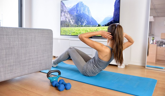 Use ad breaks to sneak in a quick workout.