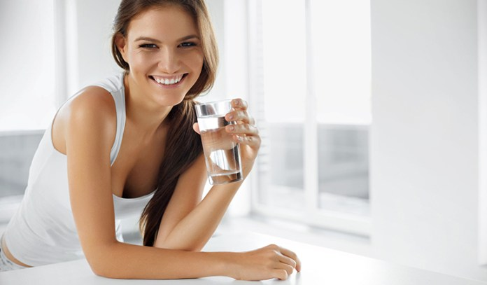 To be healthy, drink enough water.