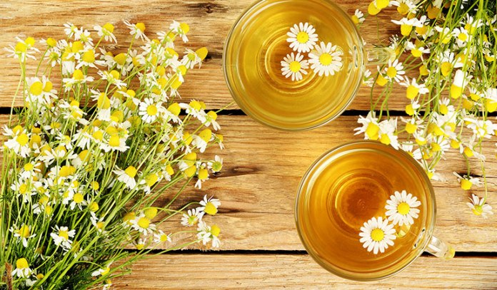 Chamomile relaxes the digestive tract reducing bloating and gas