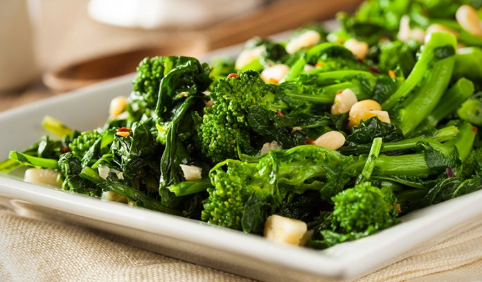 Leafy greens boost your immunity with a healthy dose of vitamin C and essential nutrients.