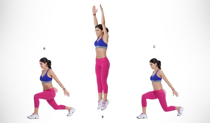 Get rid of excess fat in your buttocks, abs, and legs with double jumps