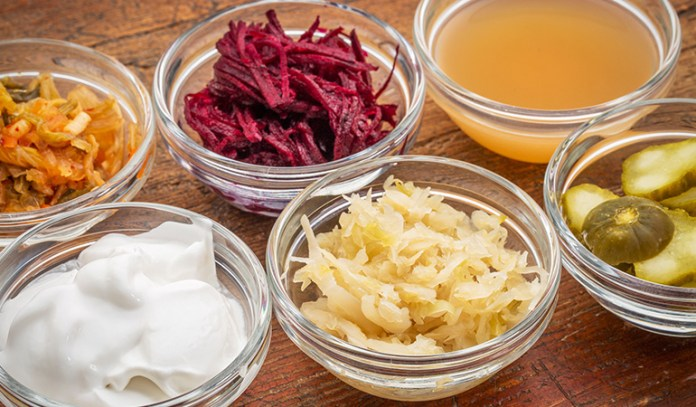 Fermented foods promote healthy gut bacteria.