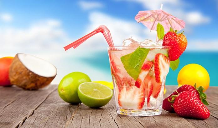 A fruit juice-alcohol blend can make a low-calorie beverage