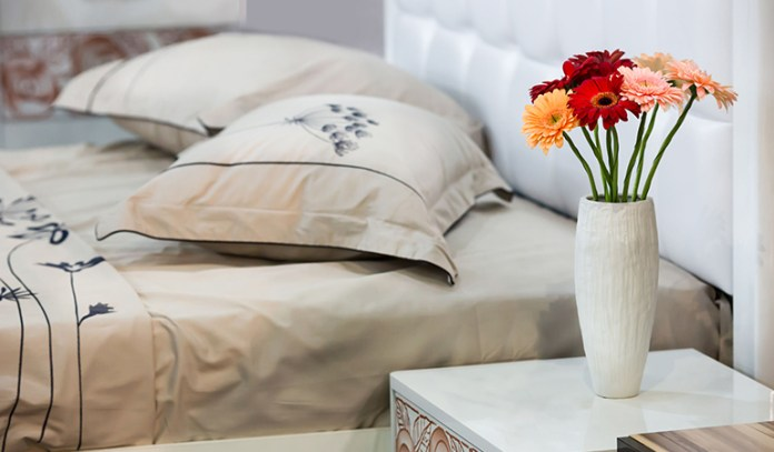 Place Objects You Like In The Bedroom Like Flowers In A Vase
